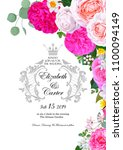 wedding invitation with... | Shutterstock .eps vector #1100094149