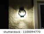 the lights at the resort are... | Shutterstock . vector #1100094770