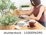 woman small business owner ...   Shutterstock . vector #1100096390