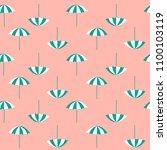 pattern of summer beach... | Shutterstock .eps vector #1100103119