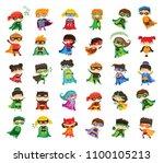 cartoon vector illustration of... | Shutterstock .eps vector #1100105213