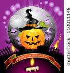 halloween card design | Shutterstock .eps vector #110011148