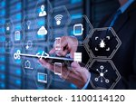 coding software developer work... | Shutterstock . vector #1100114120