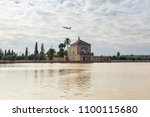 menara gardens in marrakech ... | Shutterstock . vector #1100115680