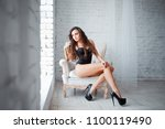 perfect  sexy body  legs and... | Shutterstock . vector #1100119490