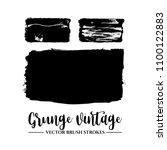 set of black brush stroke and... | Shutterstock .eps vector #1100122883
