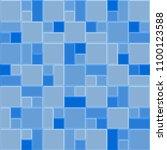 3d blue mosaic tile wall ... | Shutterstock .eps vector #1100123588