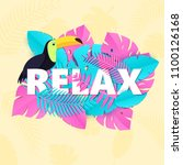word relax composition with... | Shutterstock .eps vector #1100126168
