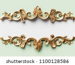 vintage gold card with ornament ... | Shutterstock . vector #1100128586