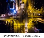 night road in konstancin... | Shutterstock . vector #1100132519