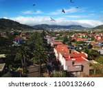 aerial view on townscape san... | Shutterstock . vector #1100132660
