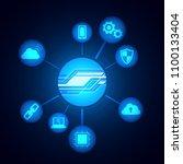 digital technology icons  ...   Shutterstock .eps vector #1100133404