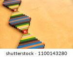 wood montessori material for...   Shutterstock . vector #1100143280