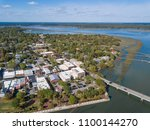 aerial view of historic... | Shutterstock . vector #1100144270