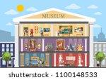museum city building interior... | Shutterstock .eps vector #1100148533