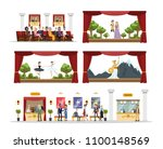 theater city building rooms... | Shutterstock .eps vector #1100148569