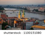 view to danube  river from... | Shutterstock . vector #1100151080