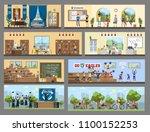 university city building...   Shutterstock .eps vector #1100152253
