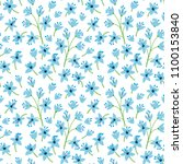 vintage floral background.... | Shutterstock .eps vector #1100153840