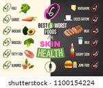 twelve best foods for healthy... | Shutterstock .eps vector #1100154224