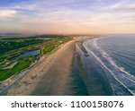 flew the drone over the beach...   Shutterstock . vector #1100158076