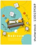 vertical interior banner sale... | Shutterstock .eps vector #1100159369