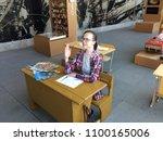 tallinn estonia   25 may  2018 ... | Shutterstock . vector #1100165006