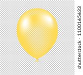 yellow balloon isolated with... | Shutterstock .eps vector #1100165633
