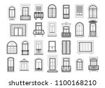 vector illustrations set with... | Shutterstock .eps vector #1100168210