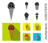 ice cream on a stick  in a... | Shutterstock . vector #1100175470