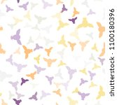 seamless vector pattern with... | Shutterstock .eps vector #1100180396