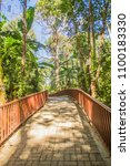 walkway into the temple in the... | Shutterstock . vector #1100183330
