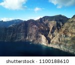 aerial view of los gigantes... | Shutterstock . vector #1100188610