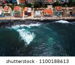 aerial view of the city on the... | Shutterstock . vector #1100188613