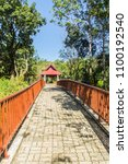 walkway into the temple in the... | Shutterstock . vector #1100192540