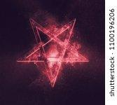 Reversed pentagram symbol....