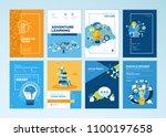 set of brochure design... | Shutterstock .eps vector #1100197658