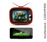 sport streaming on television.... | Shutterstock .eps vector #1100199500