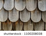 weathered wooden shingles | Shutterstock . vector #1100208038