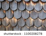 weathered wooden shingles | Shutterstock . vector #1100208278