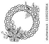 flowers decorative frame.... | Shutterstock .eps vector #1100225816