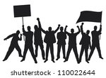 lots of furious people... | Shutterstock . vector #110022644