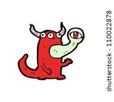 weird monster cartoon   Shutterstock .eps vector #110022878