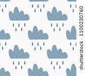 repeated clouds with falling... | Shutterstock .eps vector #1100230760