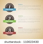 Vector options background / product choice or versions - stock vector