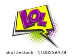 lol funny  wow comic text... | Shutterstock .eps vector #1100236478