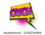 omg ouch oops comic text speech ... | Shutterstock .eps vector #1100236484