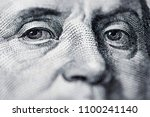 benjamin franklin's look on a... | Shutterstock . vector #1100241140