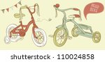 kids bicycles  a girls bike and ... | Shutterstock .eps vector #110024858