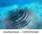 3d rendering of digital... | Shutterstock . vector #1100252666